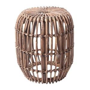 Tmavohnedý ratanový odkladací stolík RGE Venus, ⌀ 77 cm