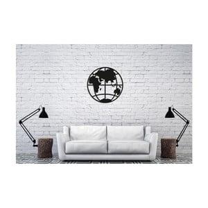 Čierna nástenná dekorácia Oyo Concept Earth, 50×50 cm