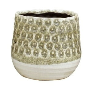Pieskovohnedý kvetináč z keramiky Strömshaga Anten, Ø16 cm