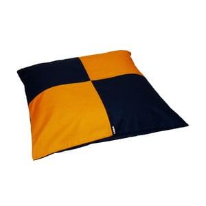 Puf na leňošenie Lona Puff 80x20 cm, modrý/žltý
