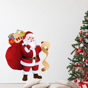 Vianočná samolepka Ambiance Santa Claus and Gift List