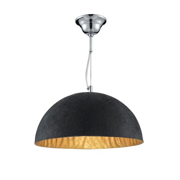 Stropné svietidlo Searchlight Dome, čierna/zlatá