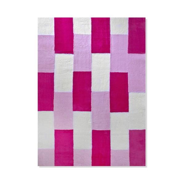 Detský koberec Mavis Pink Lines, 100x150 cm