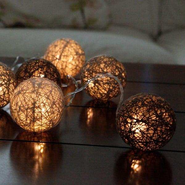 Hnedá svetelná LED reťaz Best Season Jolly Lights, 10svetielok