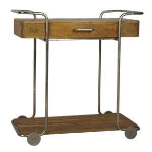 Servírovací pojazdný stolík z mangového dreva Miloo Home Savoy