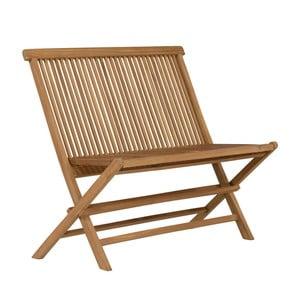 Skladacia záhradná lavica z teakového dreva SOB Garden