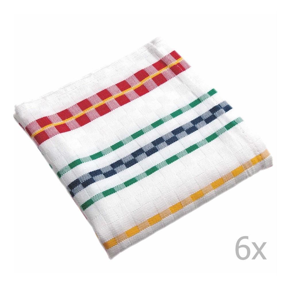 Sada 6 utierok Tiseco Home Studio Colori, 65 × 65 cm
