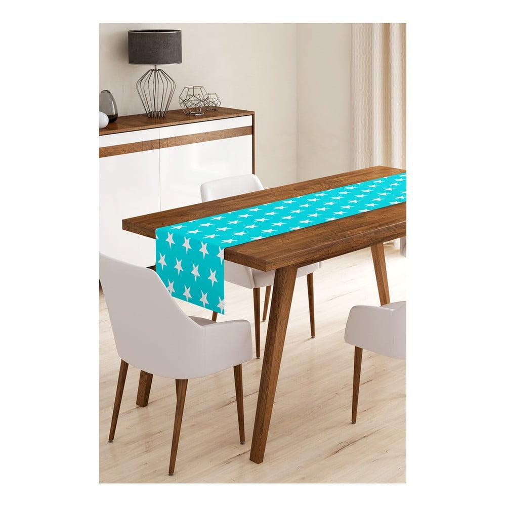 Behúň na stôl z mikrovlákna Minimalist Cushion Covers Blue Stars, 45 × 145 cm