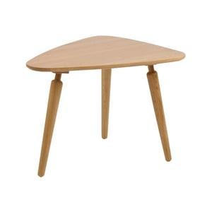 Prírodný konferenčný stolík z dubového dreva Folke Cappuccino, výška 53 × 50 x 67 cm