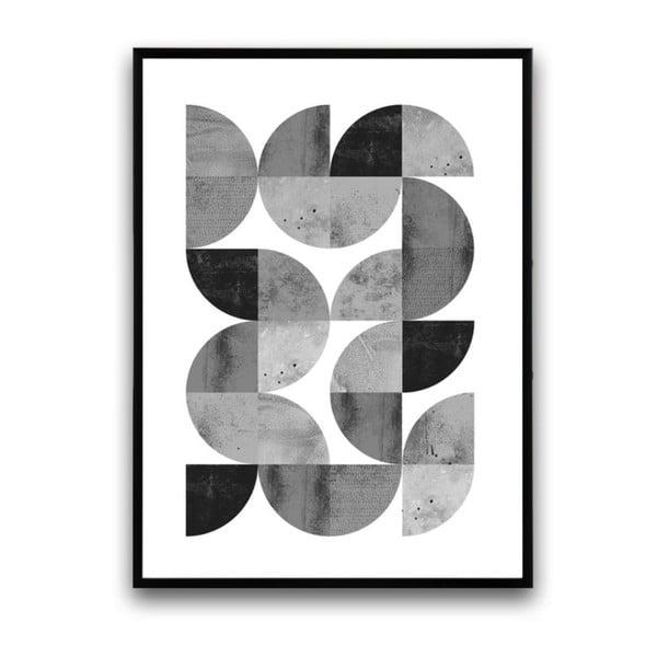 Plagát v drevenom ráme Locusta, 38x28 cm