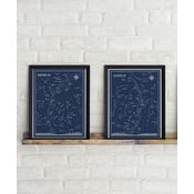 Sada 2 plagátov Follygraph Little & Big Astronomer Blue, 30 × 40 cm