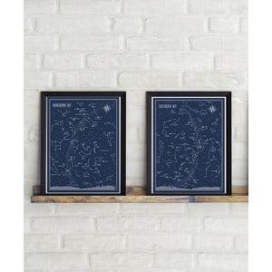 Sada 2 plagátov Follygraph Little & Big Astronomer Blue, 30x40cm