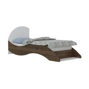 Jednolôžková posteľ v dekore orechového dreva Leni, 90×210 cm