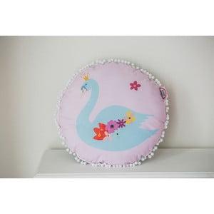 Vankúš VIGVAM Design Bohemian Chic Swan, ⌀ 39 cm