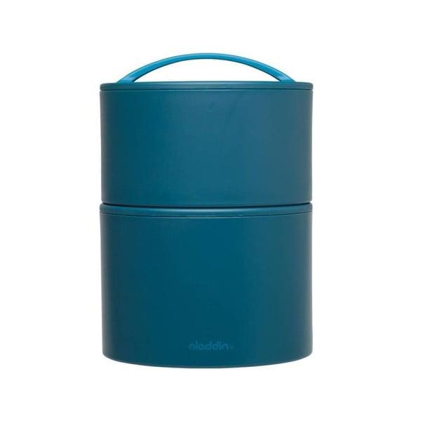 Termobox na obed/desiatu Bento 0.95 l, modrý