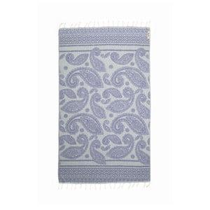 Hamam osuška Paisley Blue, 95x175 cm