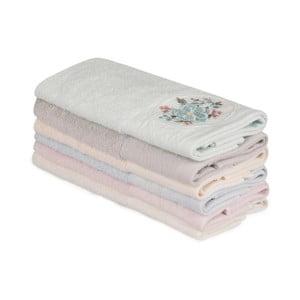 Sada 6 bavlnených uterákov Nakis Lusmo, 30×50 cm
