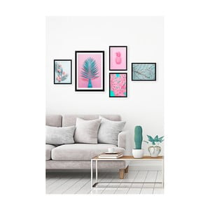 Sada 5 nástenných obrazov Tablo Center Neon