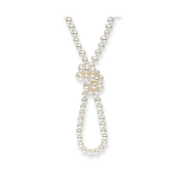 Biely perlový náhrdelník Nova Pearls Copenhagen Emilie