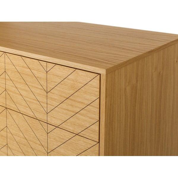 Komoda z brezového dreva Woodman Mora Herringbone Print