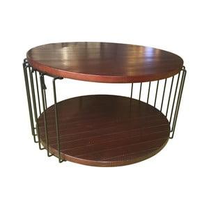 Odkladací stolík InArt Coffee Circle, 80x45cm