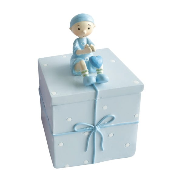 Modrý ozdobný box na drobnosti Cofanetto