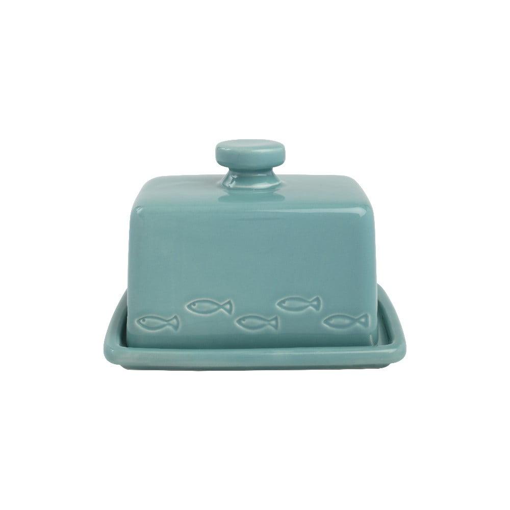 Tyrkysovomodrá nádoba na maslo z keramiky T&G Woodware Ocean