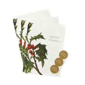 Sada 8 papierových vrecúšok Merry Christmas