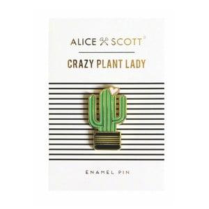Odznak v tvare kaktusu Portico Designs