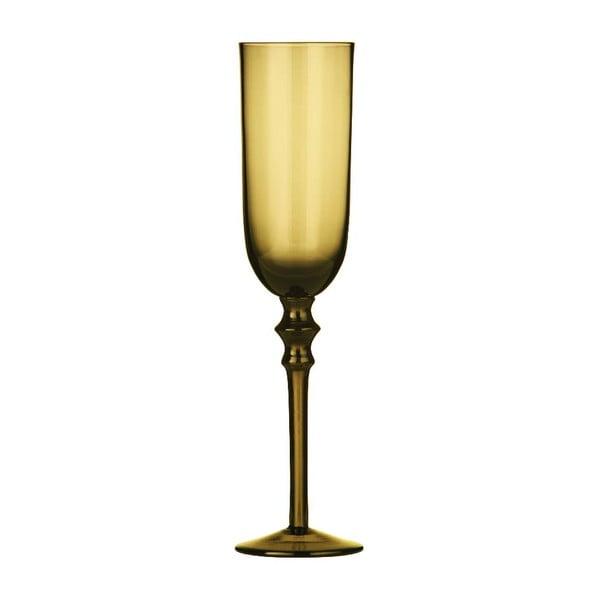 Set 4 pohárov na šampanské Smoke Amber