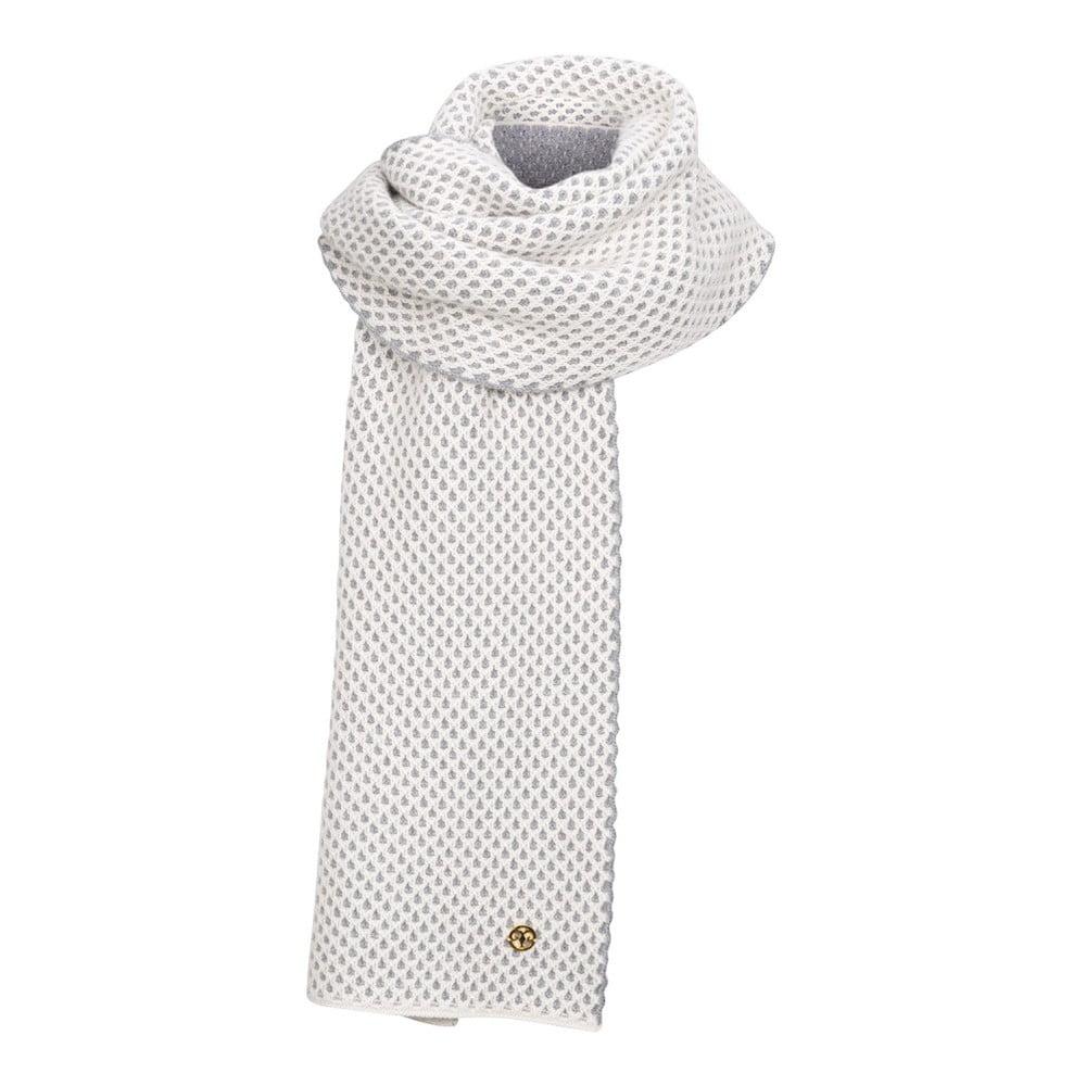 4a6d95c0275 Sivo-biely pletený kašmírový šál Bel cashmere Knit