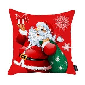 Červená vianočná obliečka na vankúš Apolena Honey Christmas Santa Claus, 45 x 45 cm