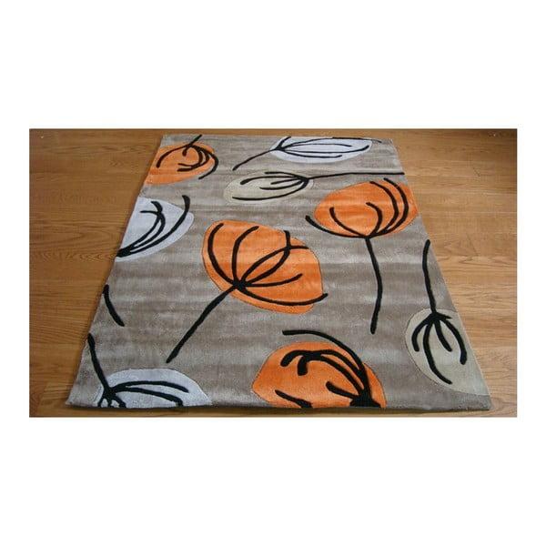 Koberec Fifties Floral, 160 x 220 cm, oranžový