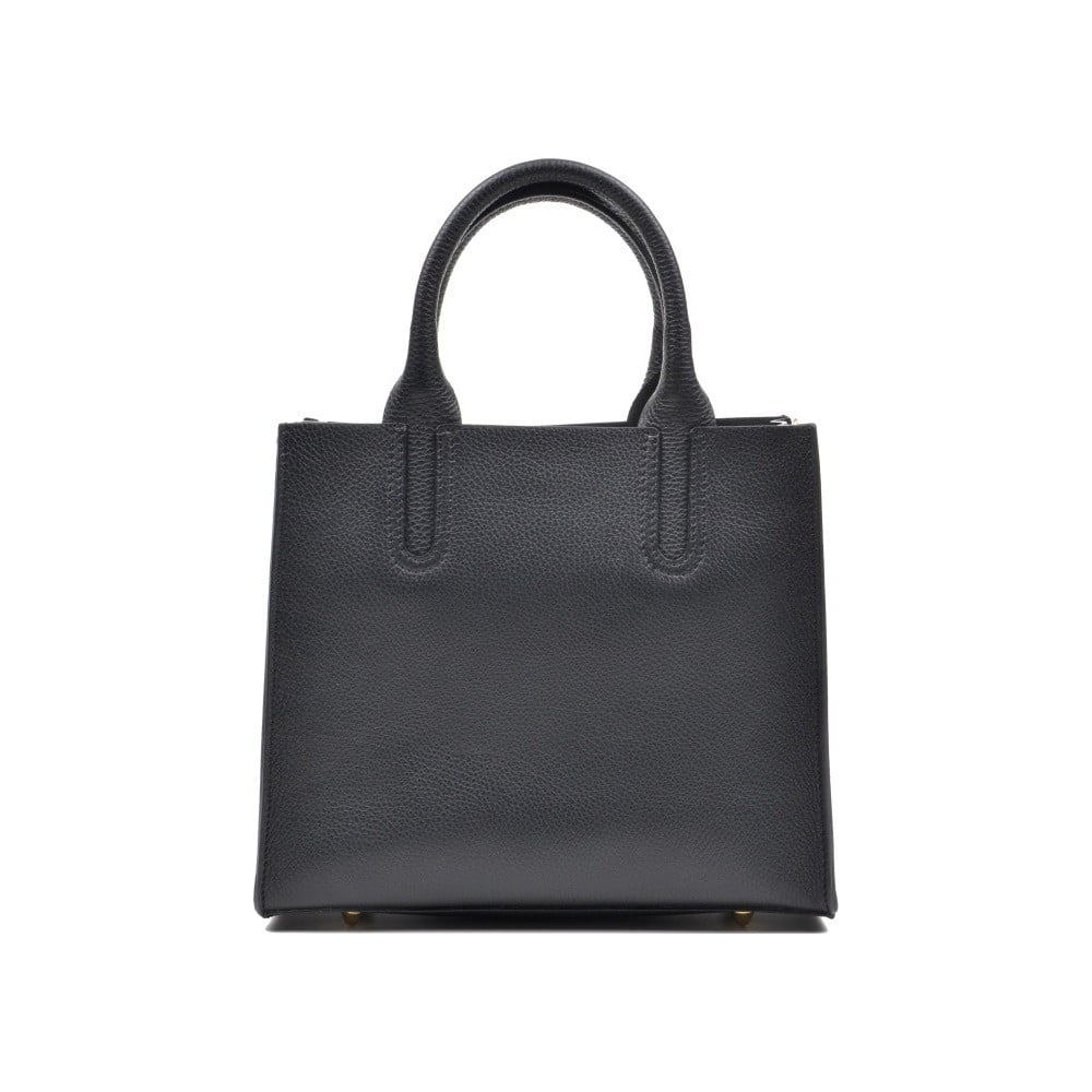 Čierna kožená kabelka Mangotti Erica