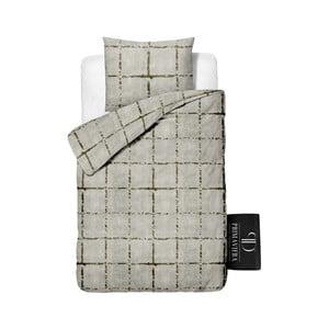 Obliečky z keprovej bavlny Dreamhouse Bill Grey, 140x220cm