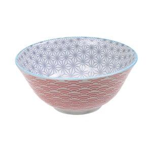 Červeno-sivá porcelánová miskaTokyo Design Studio Star, ⌀ 15,2 cm