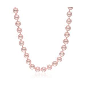 Ružový perlový náhrdelník Pearls Of London Mystic Rose, 50 cm