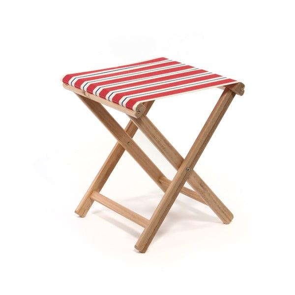 Skladacia stolička Beach, červené prúžky