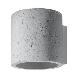 Sivé betónové nástenné svietidlo Nice Lamps Roda