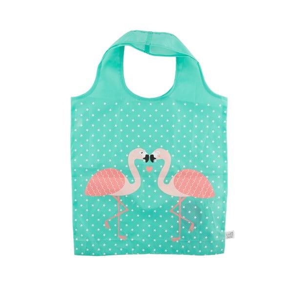 Skladacia nákupná taška Sass & Belle Tropical Flamingo