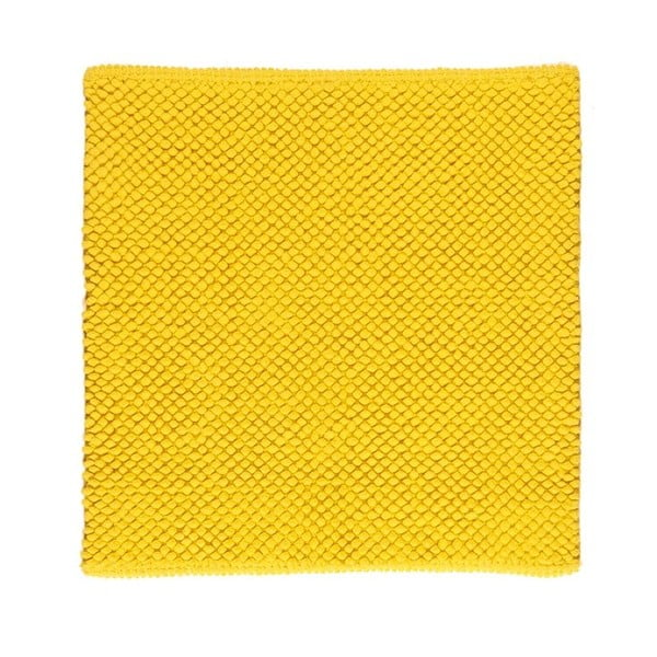 Kúpeľňová predložka Dotts Lemon Yellow, 60x60 cm