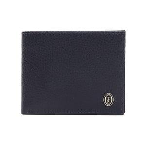 Modrá pánska kožená peňaženka Trussardi Marinero, 12,5 × 9,5 cm