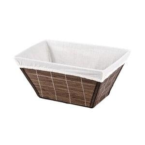 Hnedý bambusový košík Wenko Bamboo, šírka 31 cm