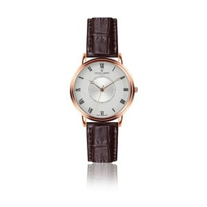 Pánske hodinky s koženým remienkom Frederic Graff Rose Grand Combine Croco Brown Leather