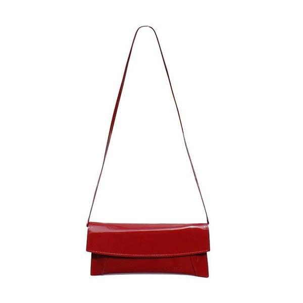 Kožená kabelka/listová kabelka Boscollo Red 2269