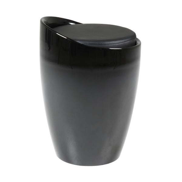 Stolička s úložným priestorom Minxie, čierna