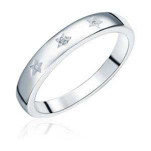 Strieborný prsteň s pravým diamantom Tess Diamonds Dominica, veľ. 56