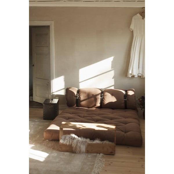 Variabilná pohovka s koženými popruhmi Karup Design Buckle Up Beige