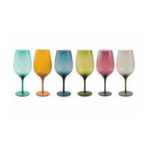 Sada 6 farebných pohárov na víno Villa d´Este Happy Goblets
