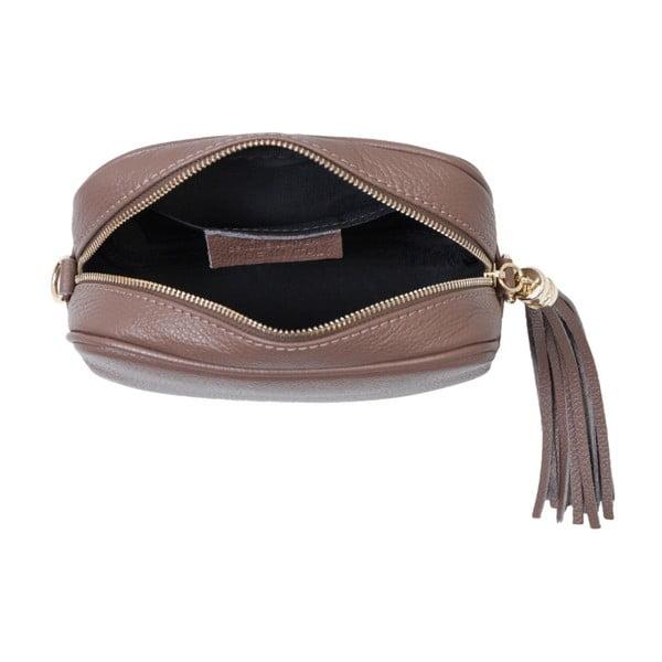 Hnedá kabelka z pravej kože Andrea Cardone Pezzo
